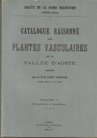 Catalogue des plantes récoltées par le Prof. Lino Vaccari dans la Vallée d'Aoste (1972-1986)