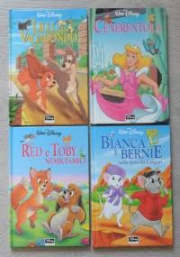 Lotto stock 4 libri Disney, illustrati: Lilli e il vagabondo + Cenerentola + Red e Tby nemiciamici + Bianca e Bernie nella terra dei canguri