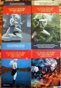 La saga di Elric di Melnibone - lotto 4 libri heroic fantasy SERIE COMPLETA