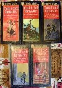 Tutti i cicli fantastici 5 volumi: Lotto libri Conan fantasy barbaro SERIE COMPLETA