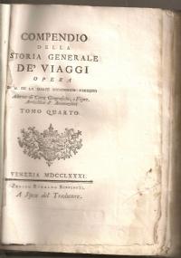 COMPENDIO DELLA STORIA GENERALE DE' VIAGGI TOMO V
