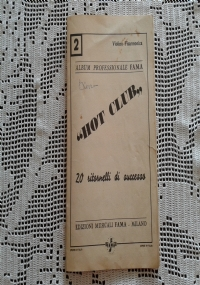 ALBUM PROFESSIONALE FAMA n. 4 HOT CLUB strumenti in SI b