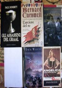 Lotto 6 libri romanzi storici Re Artù Camelot Lancillotto Graal Templari Angelica