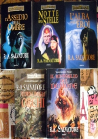 Lotto 5 libri fantasy Forgotten Realms - Drizzt Elfi scuri