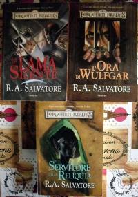 Lotto 3 libri fantasy Forgotten Realms I sentieri delle tenebre: La lama silente, L'ora di Wulfgar, Il servitore della reliquia
