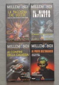 Lotto 4 libri Urania Millemondi: La macchina che uccide, Il gioco infinito, Ai confini della Galassia, Al posto dell'umanità