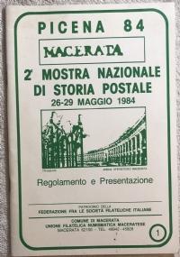 Picena 84 Macerata 2a mostra nazionale di storia postale