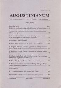 Augustinianum Annus LIII, Fasciculus II, Iunius 2013