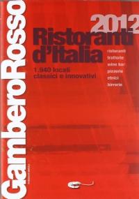 RISTORANTI D'ITALIA 2016 GAMBERO ROSSO
