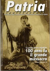 PATRIA INDIPENDENTE (mensile ANPI) Anno LIV, n. 6 - Giugno 2005: 55.788.000 VITTIME (Hitler e Mussolini) - [COME NUOVO]