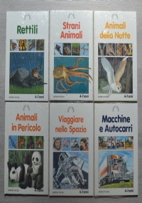 Lotto stock 6 libri per Ragazzi: Rettili, Strani animali, Animali della notte, Animali in pericolo, Viaggiare nello spazio, Macchine e autocarri