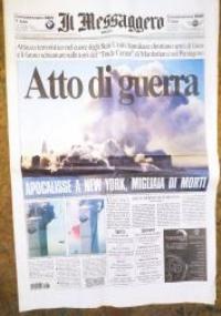 IL MESSAGGERO TORRI GEMELLE 11 SETTEMBRE- 12 SETT. 2001 ATTENTATO NEW YORK