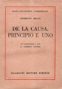 DE LA CAUSA, PRINCIPIO E UNO