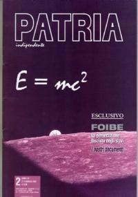 PATRIA INDIPENDENTE (mensile ANPI) Anno LIV, n. 1 - Gennaio 2005 - [COME NUOVO]