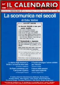 IL CALENDARIO DEL POPOLO ANNO 64° N. 749 (FEBBRAIO 2010): LA SCOMUNICA NEI SECOLI. SBARCO USA IN SICILIA E RINASCITA DELLA MAFIA. ROSA LUXEMBURG. RITORNO DELLE PASSIONI NELLA TARDA MODERNITÀ