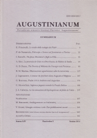 Augustinianum Annus LIV, Fasciculus II, December 2014
