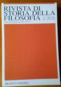 Rivista di storia della filosofia . Anno LXIII nuova serie, SUPPLEMENTO AL N.2/2008: Tre studi sulla Krisis