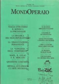 Mondo Operaio (1984 Annata Completa - 10 numeri)